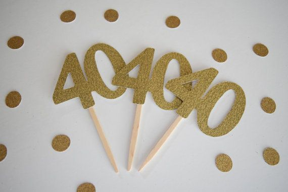 40th Birthday Cupcake Toppers 40th Birthday by ItsyBitsyPaperCuts