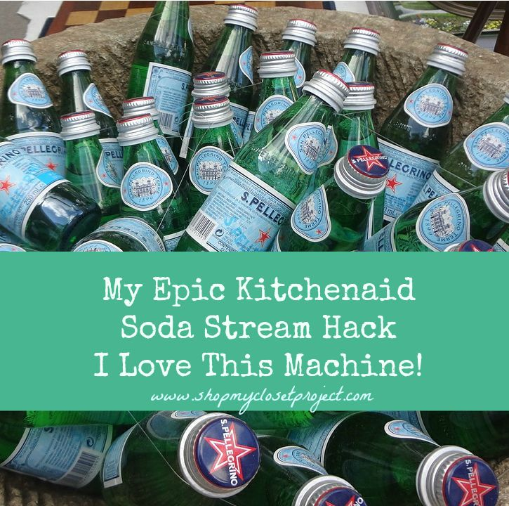 I love Perrier and San Pellegrino but my wallet doesn't love the habit. Here is the epic Soda Stream hack that I did recently that will save me money and help the earth at the same time!