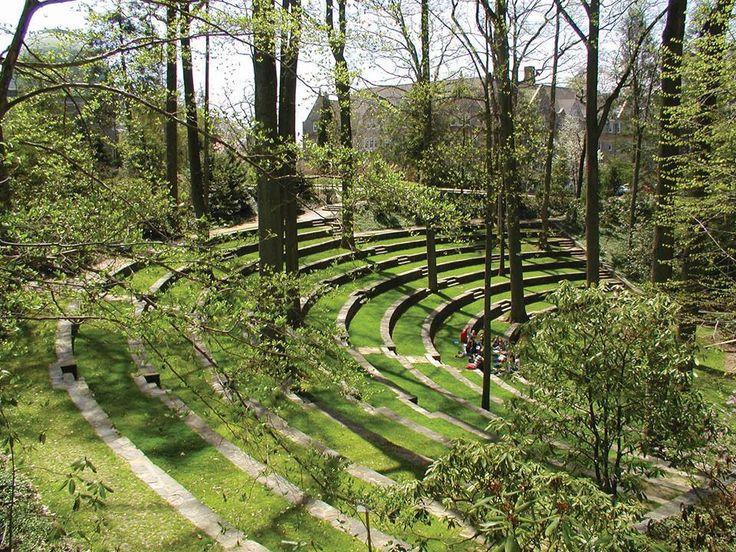Scott Amphitheater at Swarthmore College campus.
