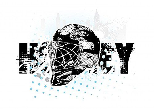 Wallmonkeys WM39446 Ice Hockey Peel and Stick Wall Decals 48 in W x 34 in H ** For more information, visit image link.