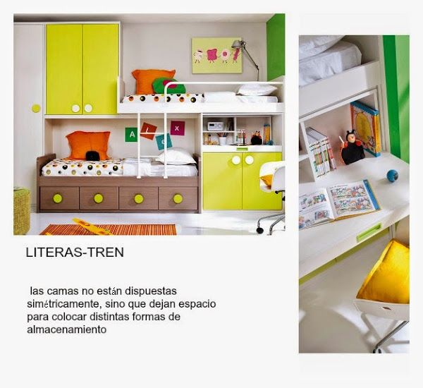C mo decorar una habitaci n compartida larga y estrecha for Literas juveniles economicas