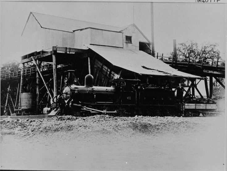 024877PD: Coal loaded onto a locomotive at Wallsend coal mine, Collie, ca 1910 http://encore.slwa.wa.gov.au/iii/encore/record/C__Rb3507740?lang=eng