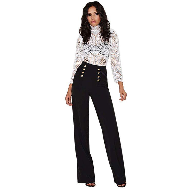 les 25 meilleures id es concernant pantalon large taille haute sur pinterest pantalon blanc. Black Bedroom Furniture Sets. Home Design Ideas