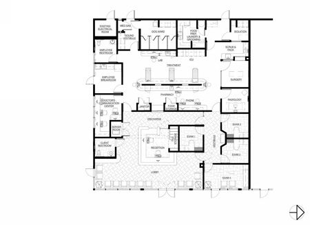 33 best images about floor plans veterinary hospital for Grooming shop floor plans