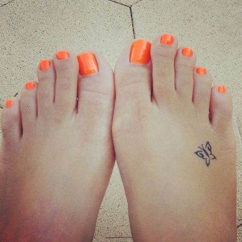 Small Beautiful Butterfly on Foot Tattoo                                                                                                                                                     More