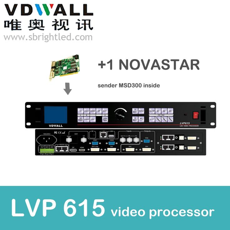 810.00$  Buy now - http://alis86.worldwells.pw/go.php?t=32781891417 - vdwall lvp615+1 pc novastar sender msd300 video processor scaler PRICE led video wall controller transmitting card led 810.00$