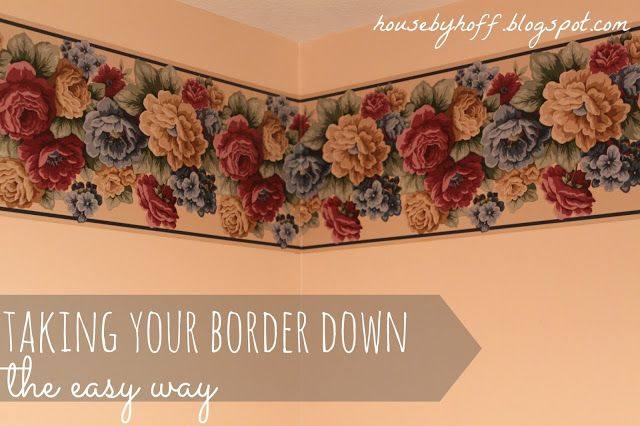 how to take down that ugly wallpaper border. I'm probably going to need this since I've been seeing a lot of houses with wallpaper borders...