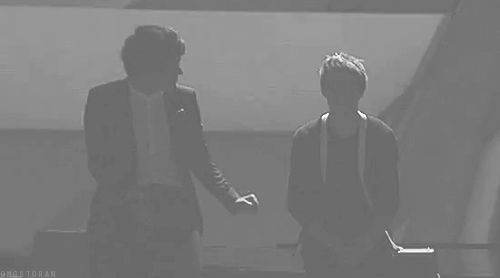 When Harry and Niall flawlessly executed this fist bump. | 34 Times One Direction Brilliantly Reminded Us They're The Biggest Boy Band In The World