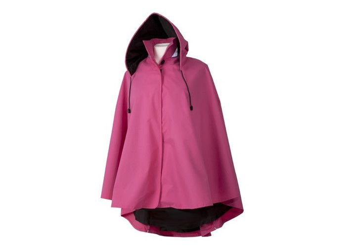 Water off a Duck's Back Rain Cape   $118 AUD  - Longer back - detachable hood - reflective piping and collar