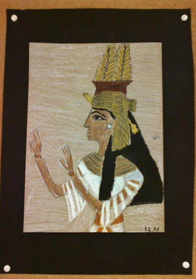 Muinainen Egypti (Alakoulun aarreitta FB -sivustosta / Saara Mälkönen)