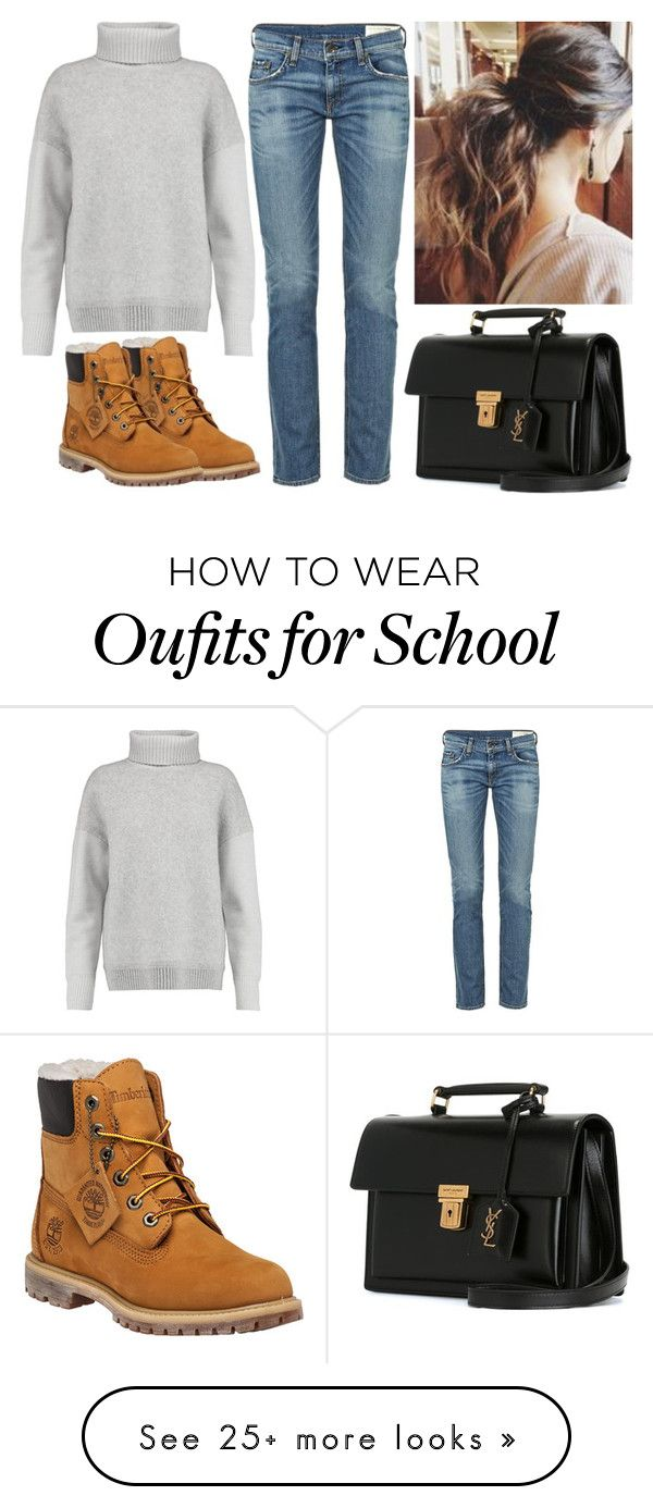 """Untitled #1782"" by cheresh on Polyvore featuring Timberland, rag & bone, Yves Saint Laurent and Iris & Ink"