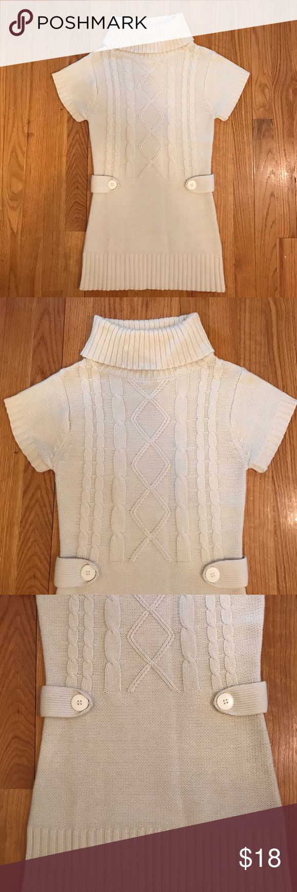 Body Central Sweater Top -- Great with Leggings Body Central Sweater Top -- Great with Leggings. Size Juniors Medium. Excellent condition. Beige color. Body Central Sweaters