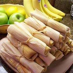 Real Homemade Tamales.  Nothing tastes better for Mexican night than homemade tamales. #tamales