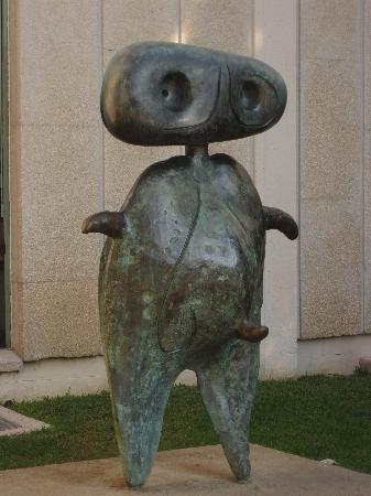 Sculpture entrance - Joan Miro Foundation Museum.Barcelona.