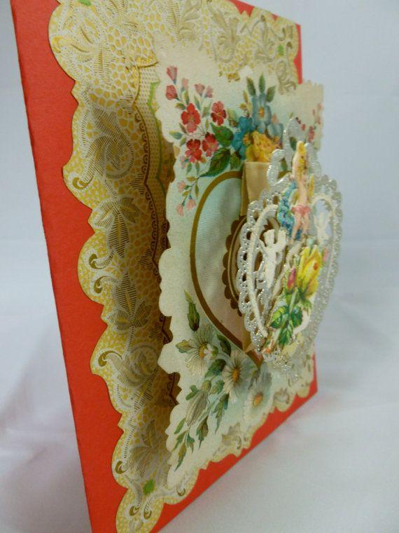 Victorian Valentine Card Handmade Cards Pinterest