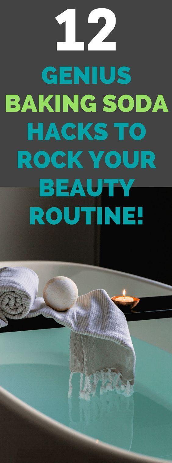 Baking Soda Uses | 12 Genius Baking Soda Hacks That'll Rock Your Beauty Routine. #bakingsoda #beauty #beautyhacks #BakingSodaSkin