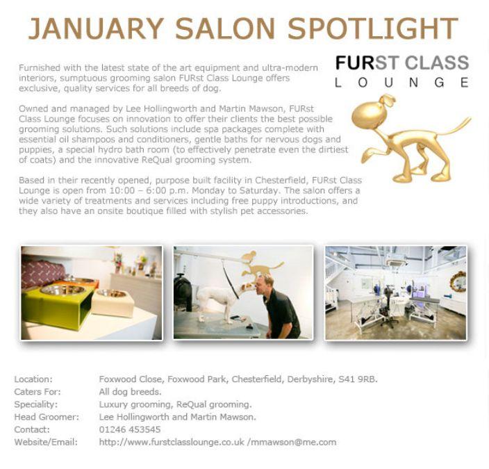 Salon Spotlight January 2014, Furst Class Lounge