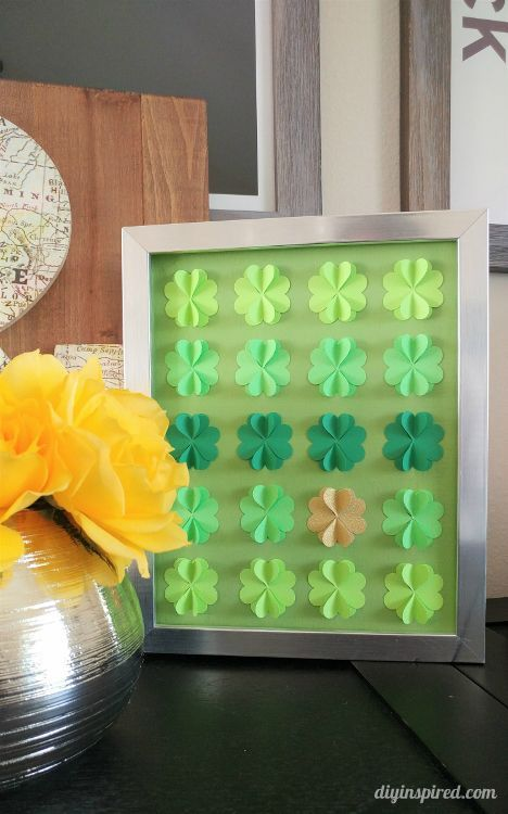 Hombre DIY Four Leaf Clover Paper Art with Video Instructions for St. Patrick's Day