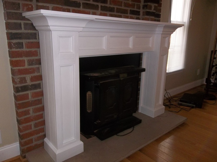 Painted White Custom Fireplace Mantle Surround For The