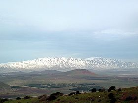 *ISRAEL~MOUNT HERMON: viewed from Mount Bental in the Golan Heights