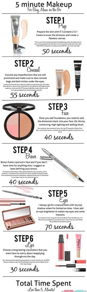 I try to compress my makeup to 10 minutes, but will keep this in mind on those mornings when I want to sleep in a bit more!