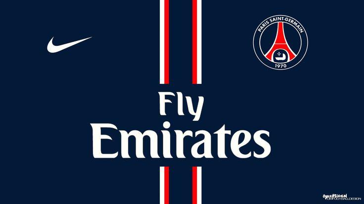 Paris Saint Germain PSG FC Football Logo