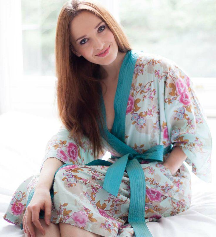 Blue Beautiful Kimono Dressing Gowns