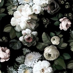 Dark Floral Sample - Ellie Cashman Design                                                                                                                                                     More