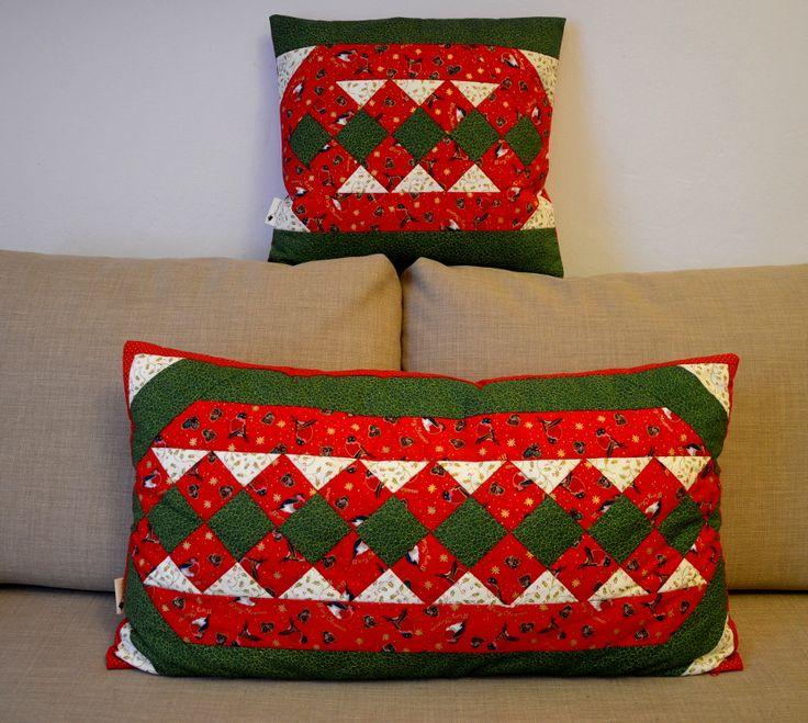 vánoční polštáře; Christmas patchwork pillows