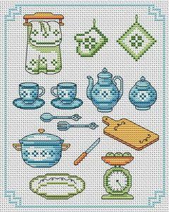 my craft notebook : Çarpı işi desenler.....Mutfak