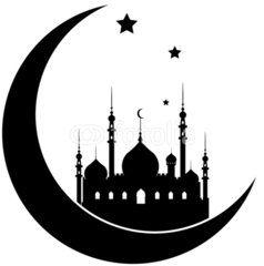 silhouette of ramadan kareem background