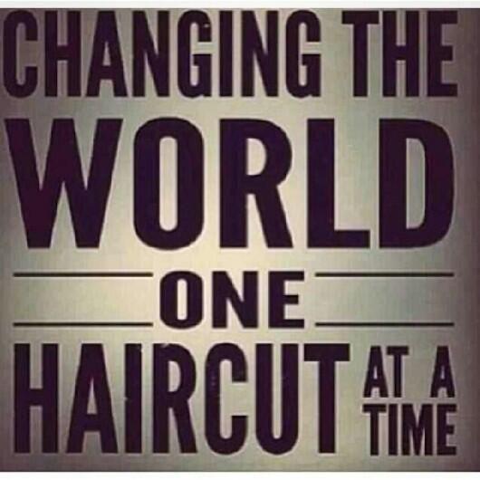 changingtheworld haircut barber hairdresser Visit