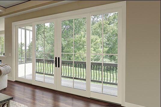 Want this big double slider so we can completely open up the living/dining to the sunroom.