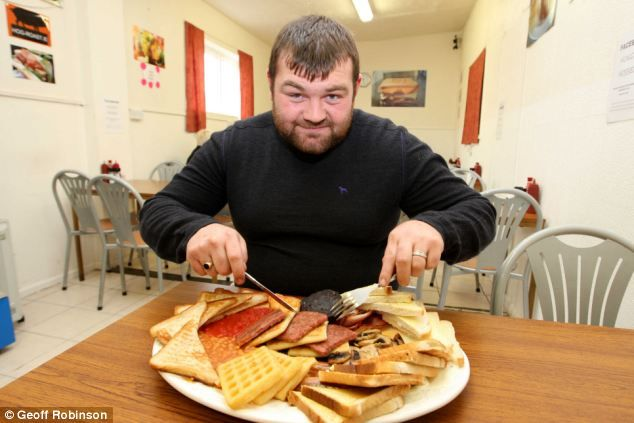 Hungry diner becomes first person ever to polish off 7,500-calorie record-breaking feast