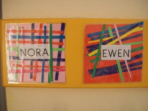 Etiquettes de porte-mateaux septembre 2008 - Des Arts Visuels à l'école maternelle