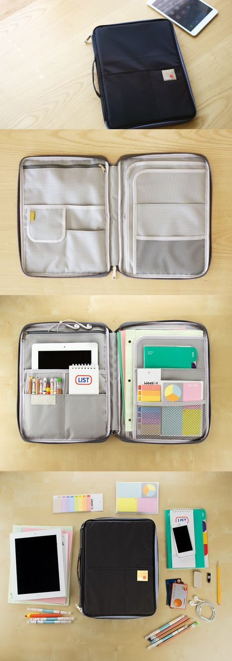 This note pouch is absolutely perfect for organization! The pouch contains numerous pockets to hold office supplies like stationery, iPad storage, engineering & letter size paper + so much more! You can also store notebooks, journals, and magazines too! The front cover has two divided pockets and the rear contains a zipper pocket for even more storage. This super cute & adorable note pouch is amazing for school, home, and the office! More colors & patterns are also available at…