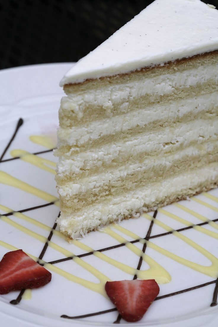 Peninsula Grill's famous 12-layer Ultimate Coconut Cake.