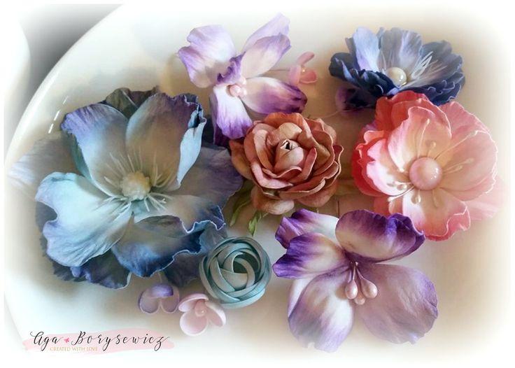 handmade foamiran flowers by Agnes B. handmade