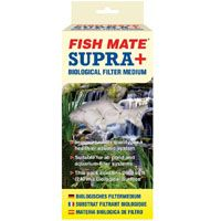 Fishmate Supra Media (for Powerclenz filters) This Fish Mate Supra Pond Filter Media is biological filter media for ponds. It is suitable for the Fish Mate Powerclenz Pressure Filters models 10000/15000/30000 and 45000. http://www.MightGet.com/february-2017-2/fishmate-supra-media-for-powerclenz-filters-.asp