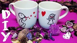 DIY - special gift lovely mugs - YouTube
