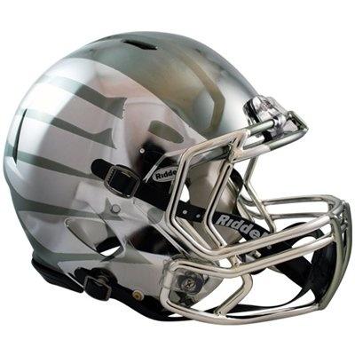 oregon duck rosebowl game black liquid metal speed helmet...so cool!