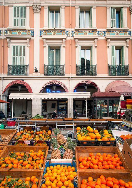fruit market, La Condamine,Monaco.  Photo: John and Tina Reid via Flickr