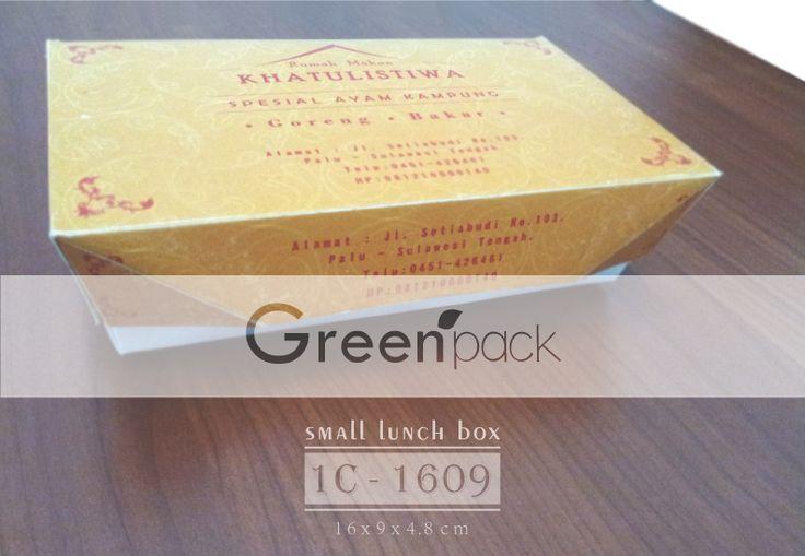 Jasa Pembuatan Box Makanan Food Grade, Gambar di atas merupakan Box Makanan RM Khatulistiwa menggunakan Box Makanan Greenpack. Info Pembuatan dapat mengunjungi link berikut ini : www.greenpack.co.id