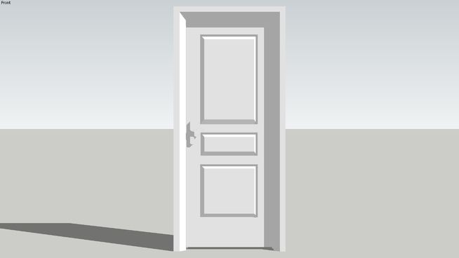 Large preview of 3D Model of White Primed door