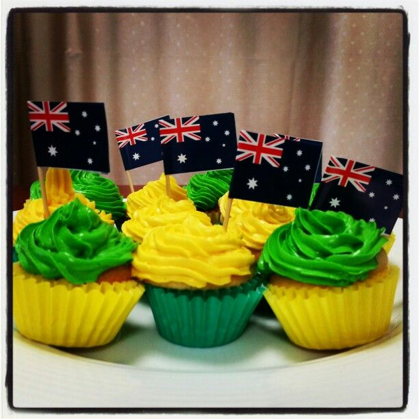 Australia Day cupcakes. Now available for order at Home Cooked Delights!