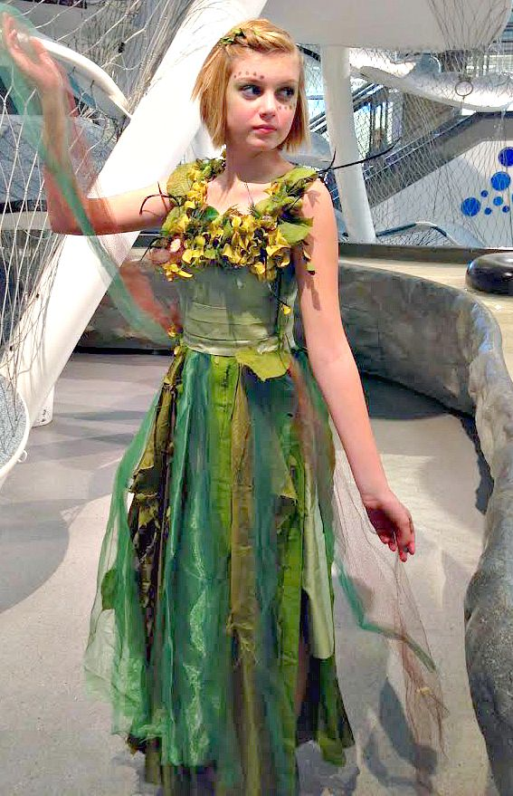 offTRACT: DIY Mother Nature No-Sew Costume