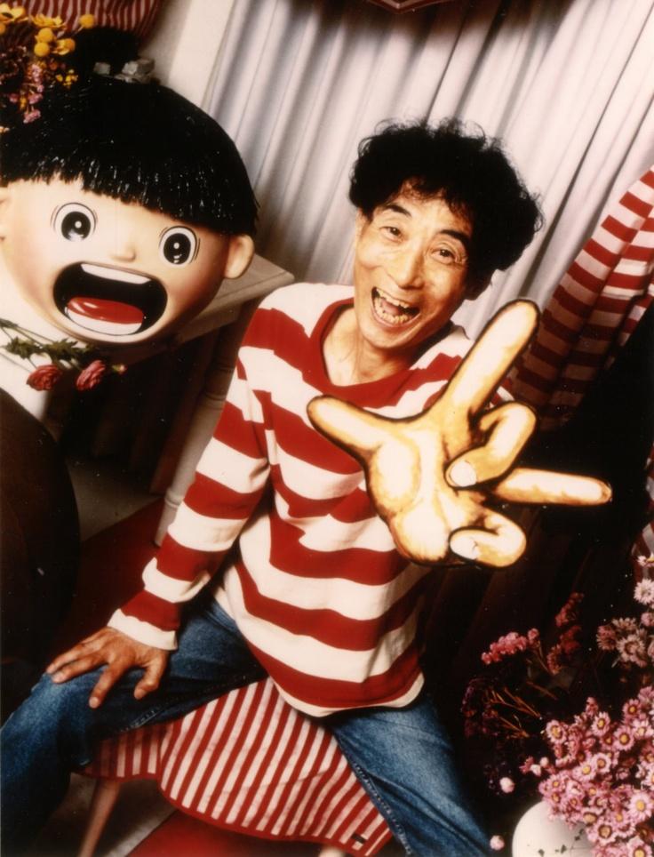 Mangaka Kazuo Umezu with his famous Makoto-chan