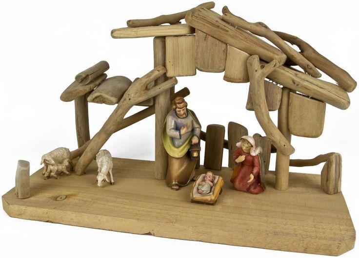 Treibholzkrippe, groß | Krippen und Zubehör | Weihnachten | Holz Frank - Großhandel