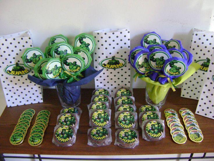 Decoracion para fiestas infantiles de hulk buscar con - Adornos con golosinas ...