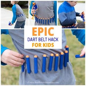Nerf & Targets Party : Epic Nerf Dart Hack for Kids Using Duct Tape